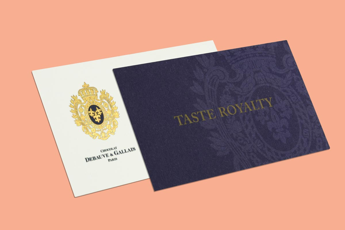 Business Cards With Gold Foiling