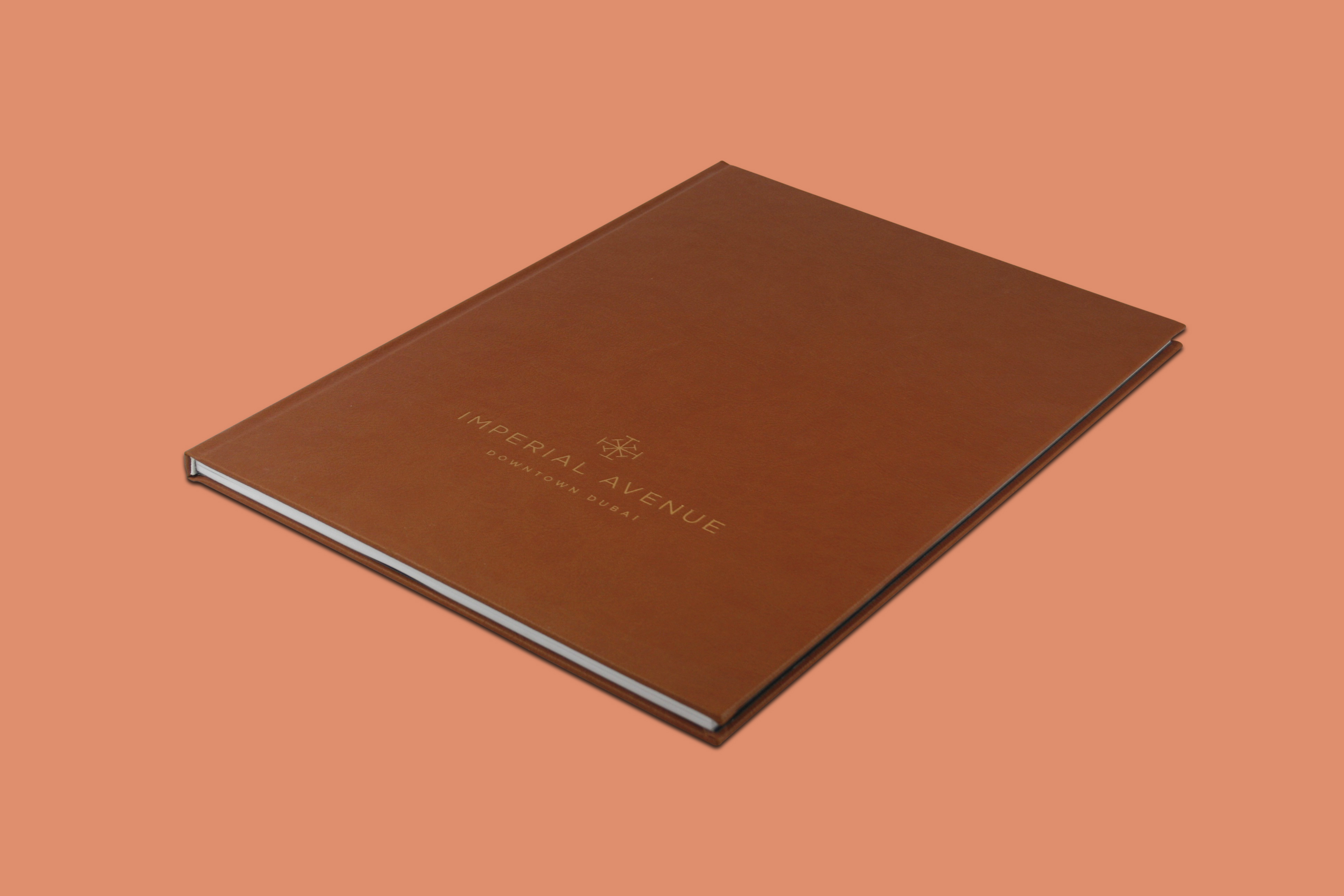 Hardcase Brochure With Brown PU Leather