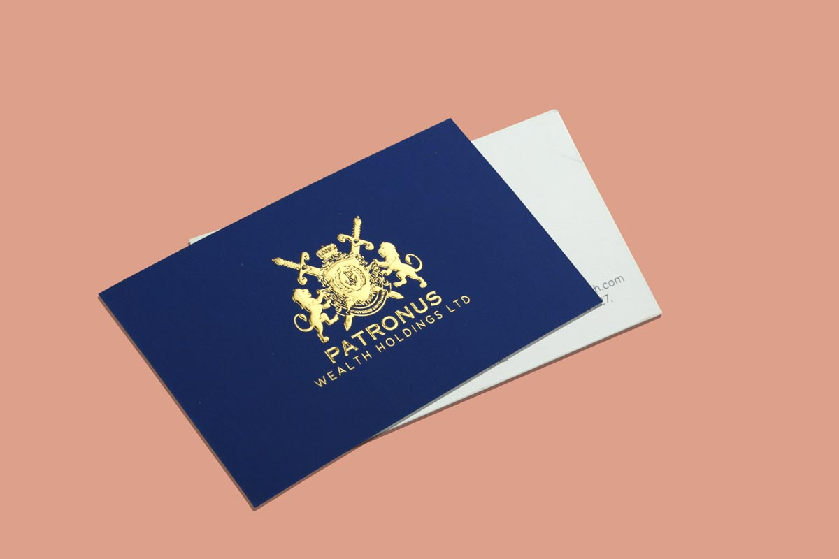 Business Card With Gold Foiling & Deboss