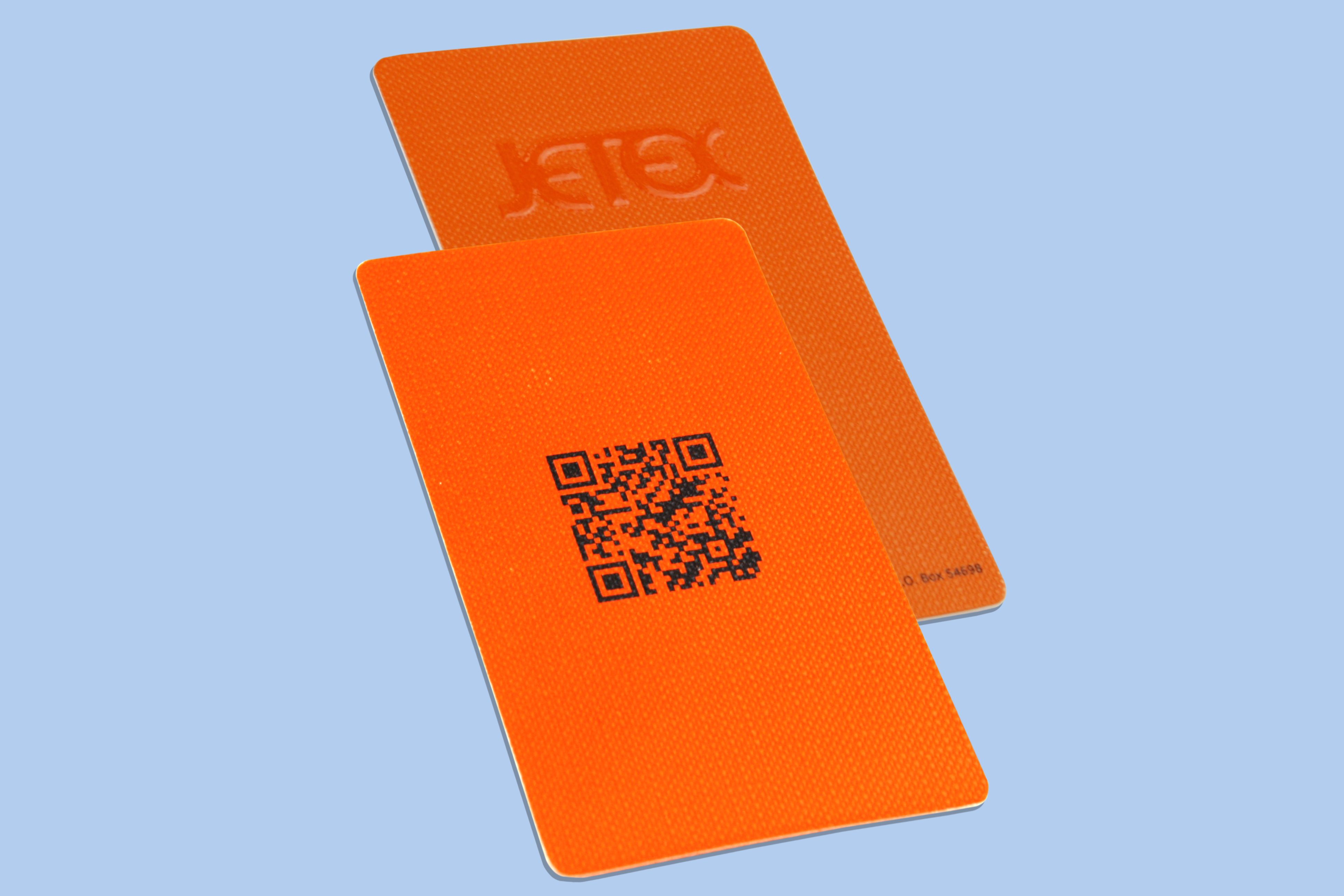 Premium Textured Business Card With Embossing And QR Printing