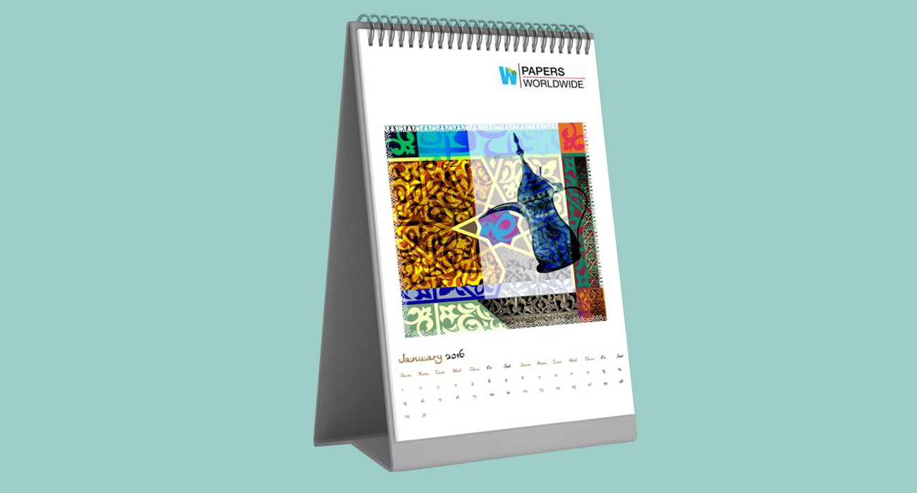 Portrait Desk Calendars With Wire-O-Binding