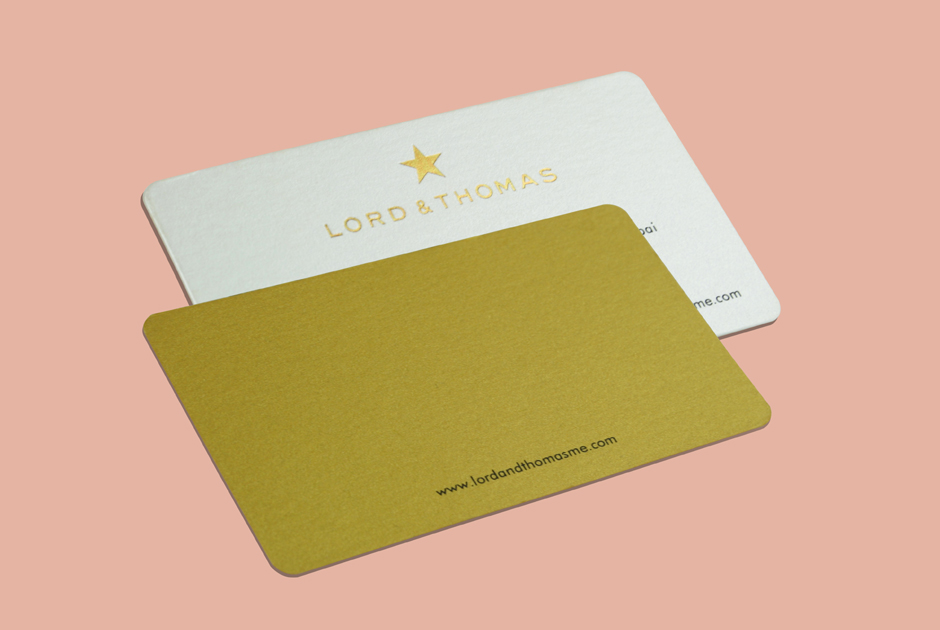Business Card Printed On Premium Gold Paper